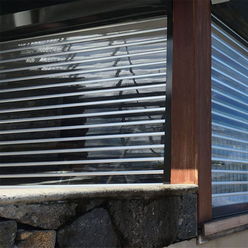 transparent polycarbonate roller shutters for residential home balcony